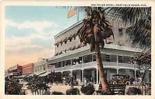 West Palm Beach Florida The Palms Hotel Antique Postcard (J34320)