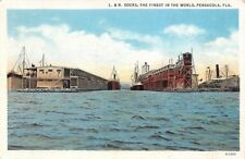 USA Fla. Pensacola, L. & N. Docks, The Finest in the World 1937