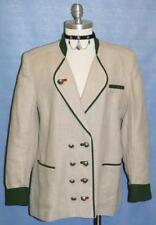 "BEIGE JACKET Women German Dirndl Summer Suit 40 14 L B44"""