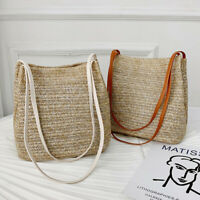 Women Vintage Handbags Tote Bags Wicker Rattan Bag Shoulder Bag Straw LuTs