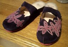 THINK KESSY Gr. 43 Clogs Pantolette Sandalette lila pink Applikation Fell