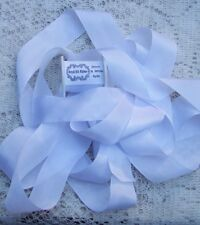 "100% PURE SILK RIBBON ~WHITE~ 13 YARDS 1"" [25MM] WIDE"