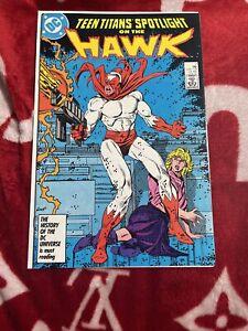Teen Titans Spotlight On THE HAWK #7 February 1987 DC Comics