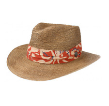 f2a2b69c9cda4a Stetson Summer BBQ Western Raffia Straw Fedora Hat Size Small to XX-Large