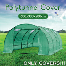 6Mx3Mx2M Walk-in Polytunnel PE Covers Plant Grow Gardening Waterproof House Shed