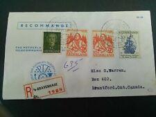 Nederland 693/694 op brier Phil Dienst naar Brantford Canada
