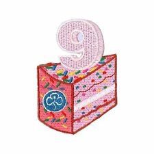 GIRLGUIDING UK BIRTHDAY BADGE ALL AGES RAINBOW BROWNIE GUIDE 6 7 8 9 10 GIFT[9]