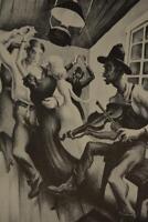 Vintage Thomas Benton I got a girl on Sourwood Mountain 1939 Print Wall Art