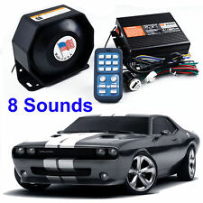 200W 8 Sound Car Warning Alarm Police Fire Siren Horn Ultra Loud Speaker System