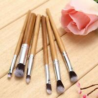 6pcs Bamboo Professional Eyeshadow Makeup Cosmetic Tool Kabuki Eye Brush Set