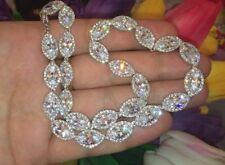 ONE OF A KIND $450 Nadri 18K White Gold Swarovski Crystals CZ Marquise Necklace
