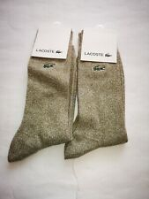 Mens Lacoste Oaty Oatmeal Socks 2 Pair Pack! Size 7-12. Great price £12!