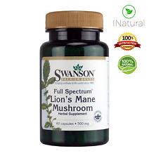 LIONS MANE MUSHROOM for Cognitive Function, Memory & Brain 500 mg - 60 Capsules