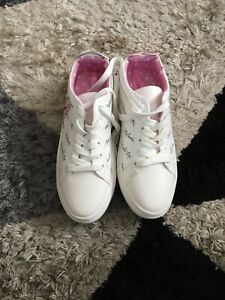 Womens white minnie mouse trainers size