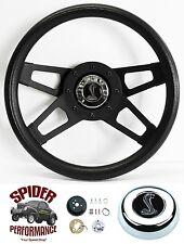 """1968-1971 Torino steering wheel COBRA 13 1/2"""" BLACK 4 SPOKE steering wheel"""