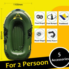 2 Person Inflatable Fishing Boat Outdoor Sport Lovers