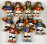 Vintage Lot Of 10 1991-92 NBA Basketball Plush Teddy Bear Good Stuff Knicks 76er