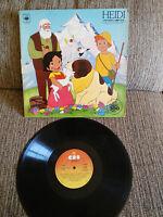 "HEIDI HISTORIA COMPLETA SERIE TV VOCES ORIGINALES LP 12"" VINILO VINYL VG/G+ 1975"