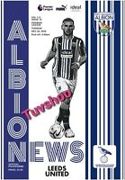 West Brom Bromwich Albion v Leeds United PL PROGRAMME 29/12/20! IMMEDIATE POST!!