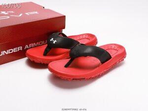 Under Armour UA Fat Tire flip flops men non-slip sports casual beach slippers