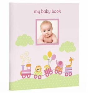 MY BABY FIRST MEMORIES BOOK - LIL PEACH GIRLS PINK TRAIN - KEEPSAKE RECORD ALBUM