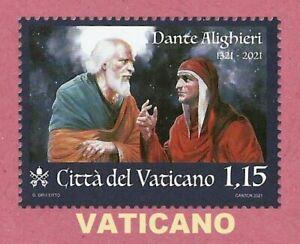 VATICANO 2021  Dante Alighieri 700 Anni dalla Morte  FRANCOBOLLO MNH