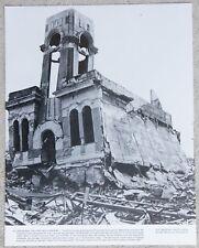 Vintage 11x14 Photograph Shimomura Clock Store Hiroshima Japan After Atomic Bomb
