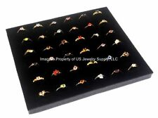 "1 Black 36 Ring Jewelry Display Liner Insert Pad 7 3/4"" x 6 3/4"""