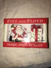 Fitz & Floyd -Santa & Present Christmas - Salt & Pepper Shakers Nib