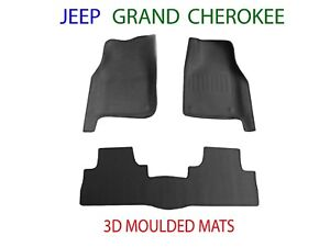 To suit Jeep Grand Cherokee WK2   2011 - 2021 3D Rubber Moulded Car Floor Mats
