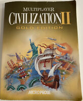 Civilization II 2 Gold Edition Book Instruction Manual - PC Strategy -BOOK ONLY