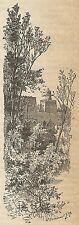A3699 Congun - Costruzioni persiane - Incisione - Stampa Antica del 1887
