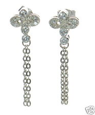 Diamond Dragonfly Stud Earrings ' Solid 925 Sterling Silver Lab Simulated