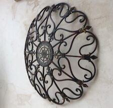 Vintage Style Iron Wall Art Garden French Country Large Fleur De Lis Sculpture