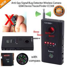 RF bug Detector Anti-Spy segnale Nascosto Obiettivo Fotocamera Dispositivo GSM TRACCIANTE FINDER