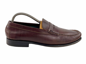 Colter Creek Mens HS Trask Brown Leather Round Toe Slip On Loafers Shoes Sz 9 D