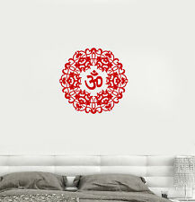 Vinyl Decal Om Mantra Sanskrit Bedroom Talisman Meditation Wall Stickers (082ig)