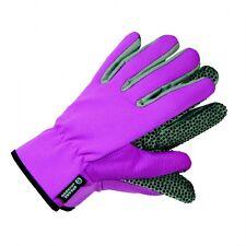 Gartenhandschuhe Arbeitshandschuhe Pink Baumwolle Antirutsch Noppen Gr. 8 Hand