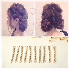 10x Gold Wave Barrette Bobby Pin Side Hairpin Hair Pin Wedding Hair Jewelry