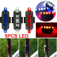 Cycling Bike Tail Light 5 LED USB Rechargeable Bicycle Tail Warning Rear Safety