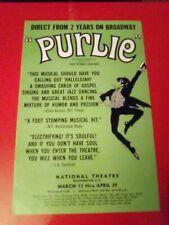 Purlie,. Rare 1972 Broadway Musical Tour Flyer, Wash DC.