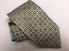 HUGO BOSS -GEO PATTERN Woven Silk Tie NWT- BEIGE MULTI