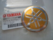 Yamaha Retro Tuning Fork Fuel Tank GOLD Sticker Decal 55mm ** GENUINE YAMAHA **