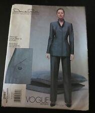 Vogue Pattern 2162 Oscar de la Renta Jacket & Pants partial cut Sz 8-12