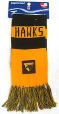 65230 HAWTHORN HAWKS AFL FOOTBALL CLOTH PATCH BAR SCARF