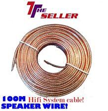 Cable de altavoz 100M libre de oxígeno Dj Música Sistema HIFI HOME CINEMA cable