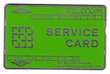 USED 200 UNIT GREEN AND SILVER SERVICE BT PHONECARD
