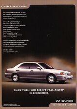 2001 Hyundai XG300 Original Advertisement Print Art Car Ad J655