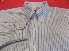 JOS A BANK TRAVELERS COLLECTION STRIPED SHIRT WITH BUTTON DOWN COLLAR SIZE L