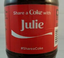 Share A Coke With Julie Limited Edition Coca Cola Bottle 2014 USA